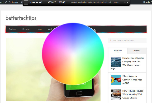 How To Get Hexadecimal Color Code From A Specific Web Page Web Page Color Code