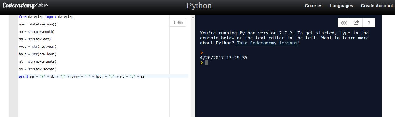 Codecademy | Code Playground