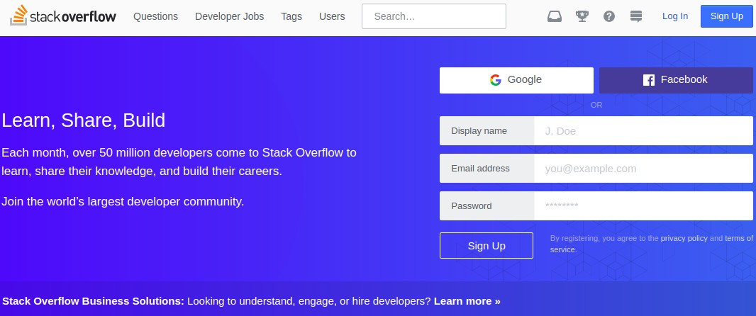 Stack Overflow is a question answer site that has a more specific market   This platform is aimed at developers to share their knowledge. 10 Best Question Answer Sites Like Quora   Better Tech Tips