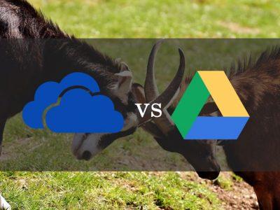 OneDrive vs Google Drive. The Giants Battle