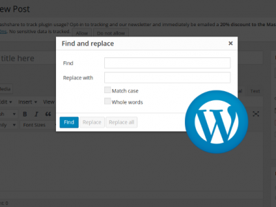 How to Add Find and Replace Button in WordPress Editor