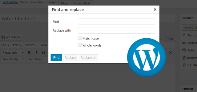 how to add search button in wordpress