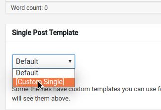 how to create template in wordpress