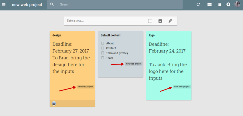 Case Study: Using Google Keep as a Collaboration Tool for a Web
