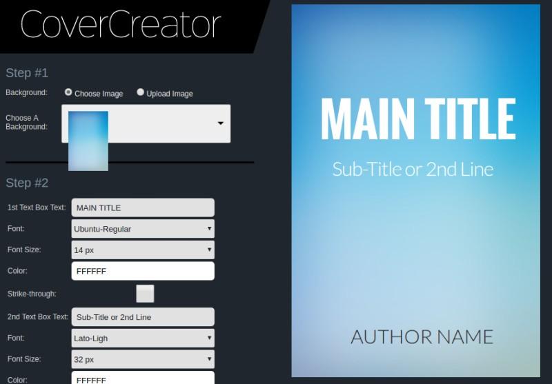 Book Cover Creator ~ Online e book cover creators to design by