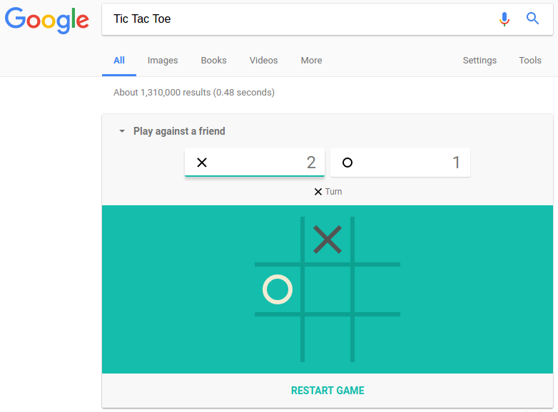 Tic Tac Toe Google