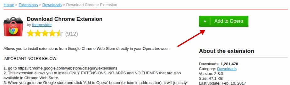 Simple Way to Install Google Chrome Extensions in Opera – Better