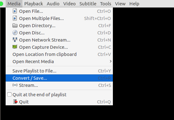 how to change video from file to vlc