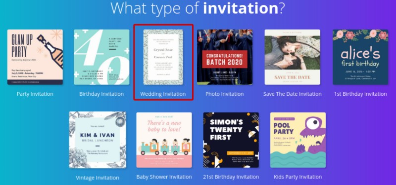 How to create wedding invitation online using canva better tech tips you will see the user interface of canva which is very easy to learn and use start your design making process by selecting a template on the left sidebar stopboris Images