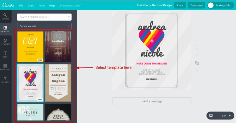 How to create wedding invitation online using canva better tech tips each template has had the default contents to replace the default contents just double click the elements you want to replace a toolbar will appear every stopboris Choice Image