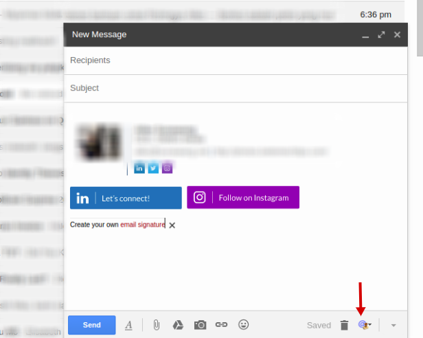 how to make a professional signature in gmail