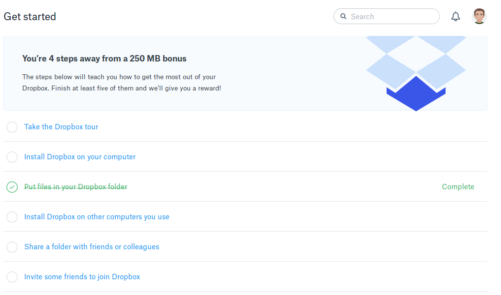 how to get more dropbox space free
