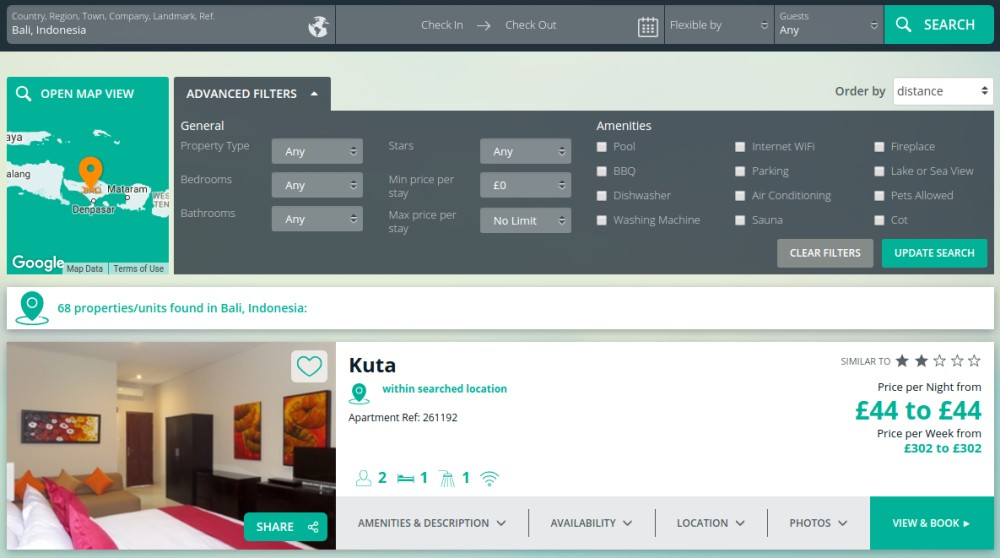 Vacation Lodging Website Design