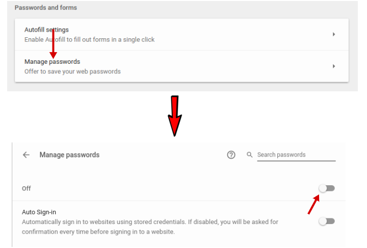 how to get google chrome to save passwords