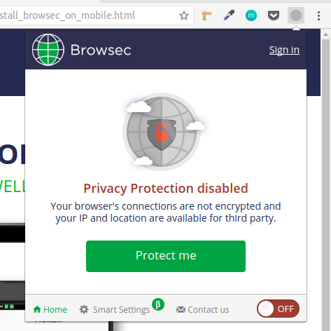 Browsec Chrome