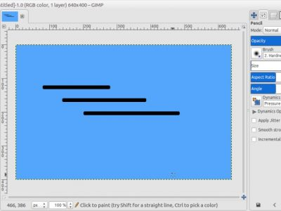 How to Draw a Straight Line in GIMP