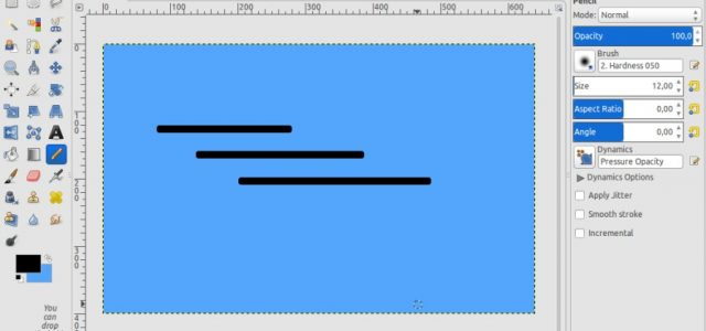 Drawing A Dotted Line In Gimp : How to draw a straight line in gimp better tech tips