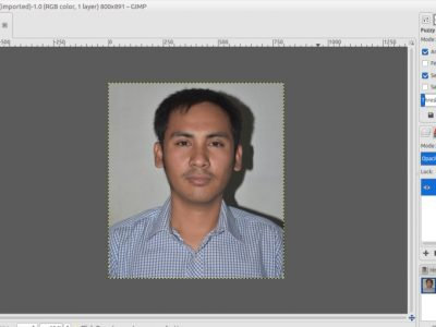 GIMP Tutorial: How to Change the Background Color of a Photo with GIMP