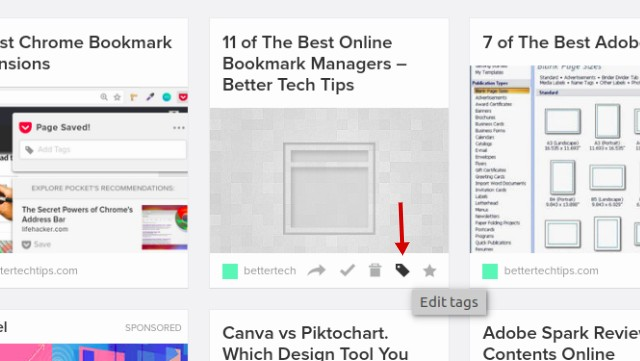 how to use pocket to manage bookmarks online better tech tips