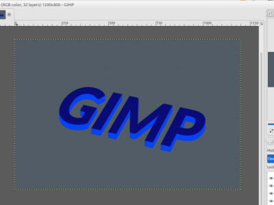 How to Create 3D Text Using GIMP #Part 1