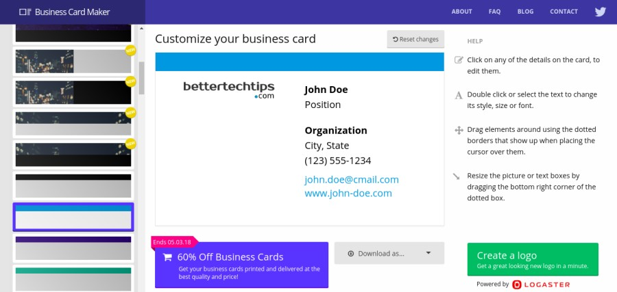 5 best online business card makers you can use for free  u2013 better tech tips