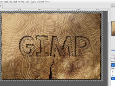 How to Create Engraved Text in GIMP