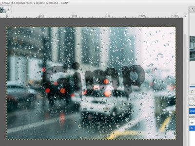 How to Create Text on  the Wet Glass with GIMP