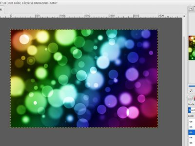 How to Create Colorful Bokeh Effect with GIMP