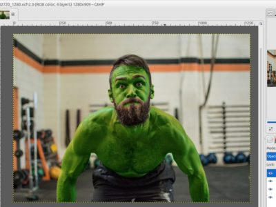 How to Turn Yourself Into Hulk with GIMP