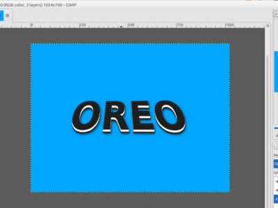 GIMP Tutorial – Oreo Cookie Text Effect