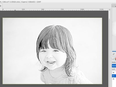 How to Convert an Image to Pencil Drawing in GIMP