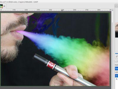 GIMP Tutorial – Rainbow Smoke