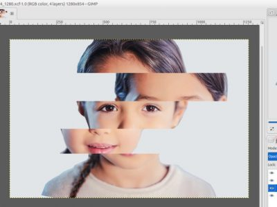 How to Create Fade Slide Effect in GIMP