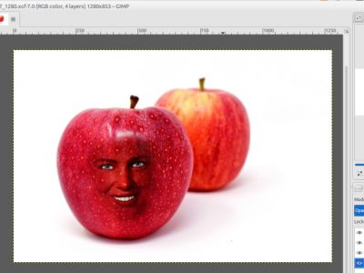GIMP Tutorial – Put Someone's Face on an Object