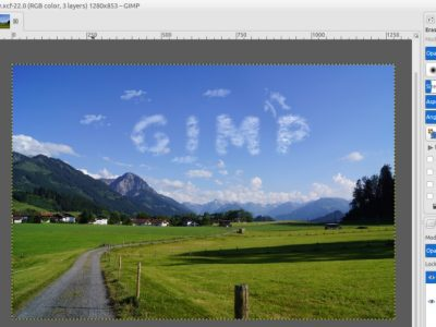GIMP Tutorial – Cloud Text