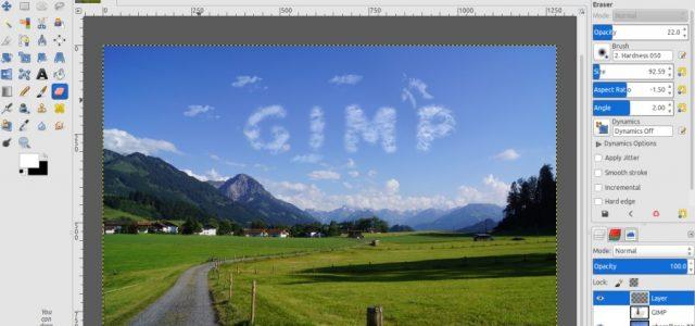 GIMP Tutorial – Cloud Text