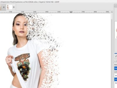 GIMP Tutorial – Disintegration Effect