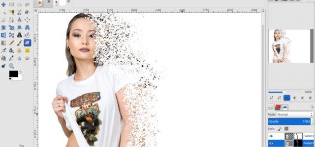 GIMP Tutorial – Disintegration Effect