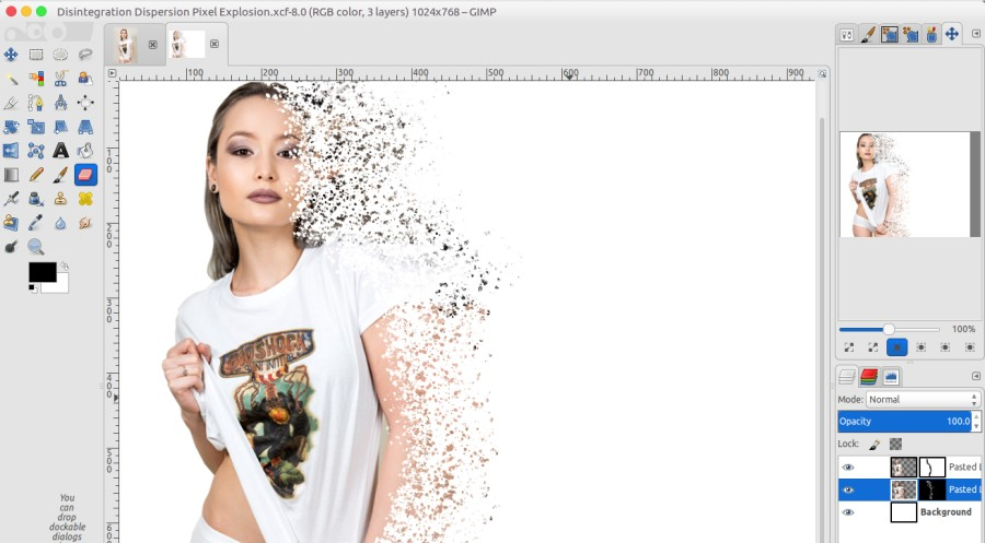 GIMP Tutorial - Disintegration Effect – Better Tech Tips
