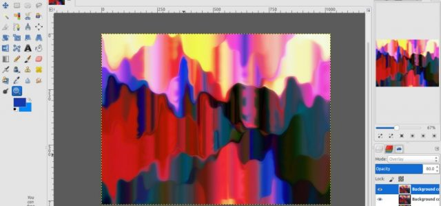 GIMP Tutorial – Dripping Paint Background