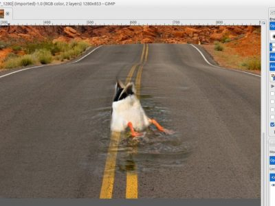 GIMP Tutorial – Drowning in The Road