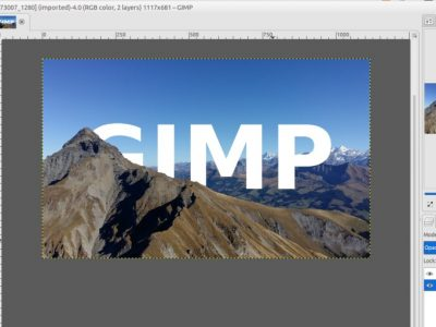 GIMP Tutorial – Skyline Text Effect