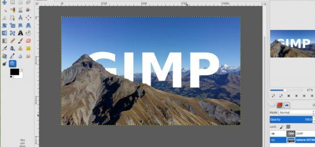 GIMP Tutorial – Skyline Text Effect