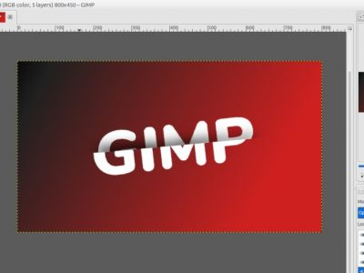 GIMP Tutorial – Sliced Text