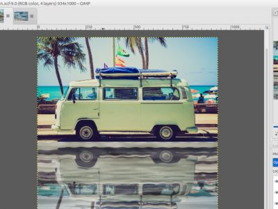 GIMP Tutorial – Water Reflection