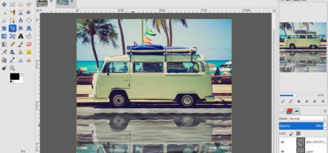 GIMP Tutorial – Water Reflection