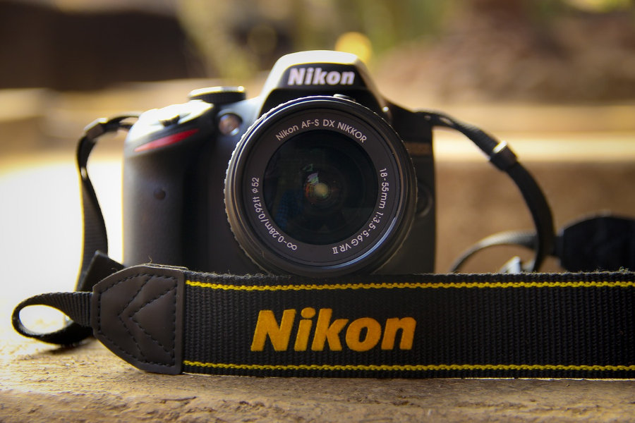A Nikon DSLR Camera with Wi-Fi