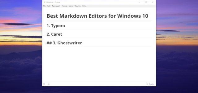 6 Best Markdown Editors for Windows 10