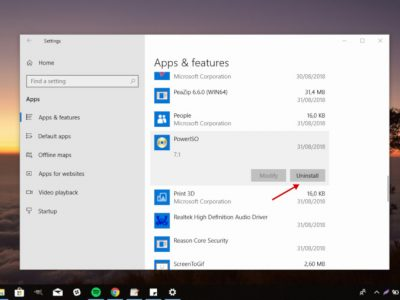 How to Remove Apps in Windows 10