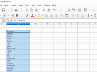 How to Sort Data Alphabetically in LibreOffice Calc